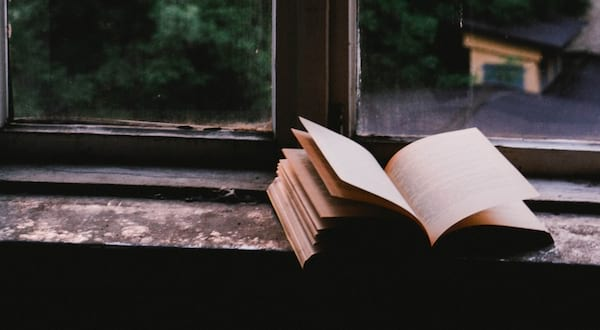 stis in romance, image of an open book resting on a windowsill, books