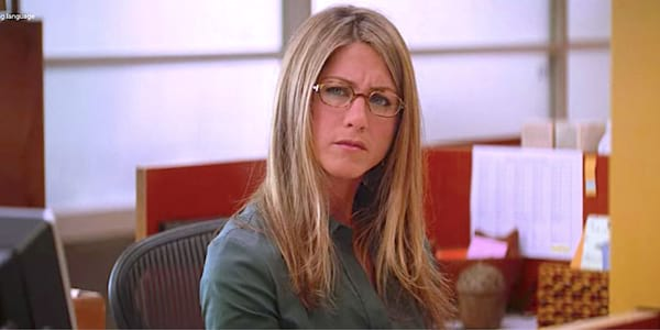 confused, liz, thinking, smart, glasses, Jennifer Aniston, hero, he's just not that into you