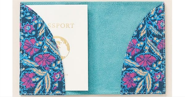 suede passport holder from anthropologie mother's day gift