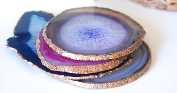 agate coasters diy mother's day gift