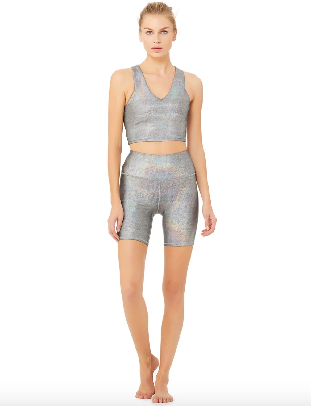 brilliance bra and short set from alo yoga