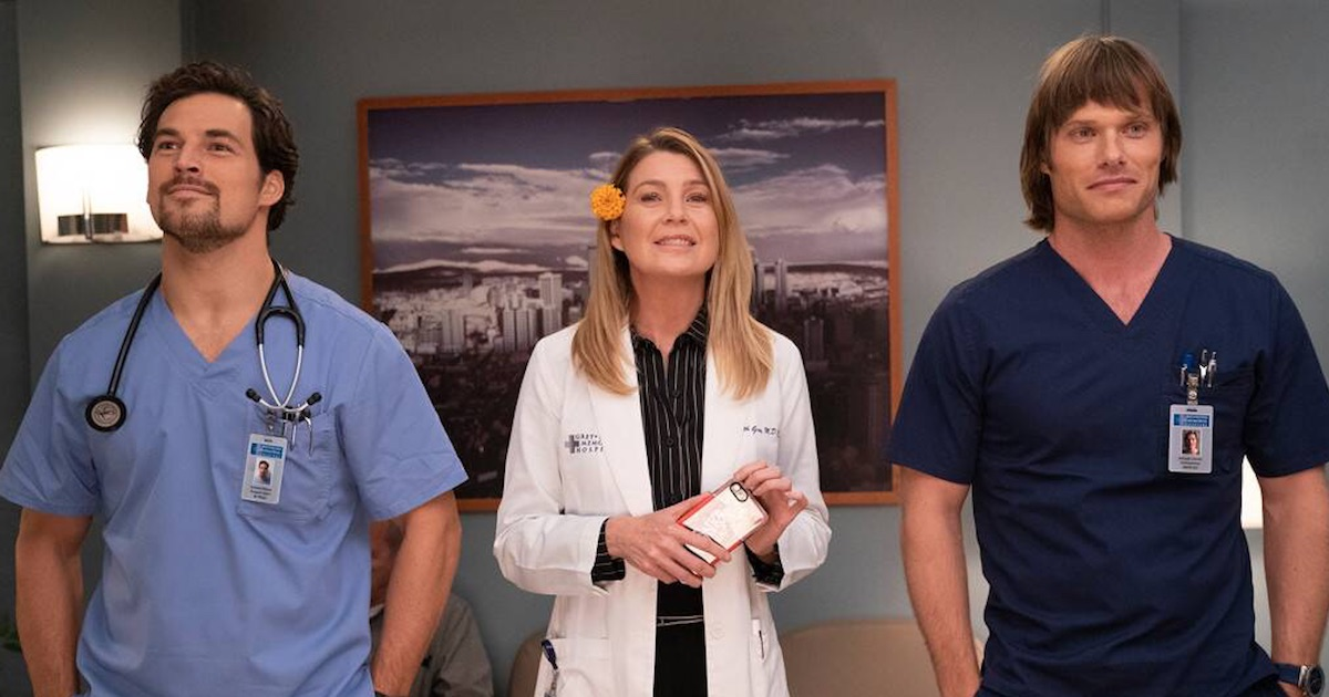 meredith grey and finn and andrew love triangle