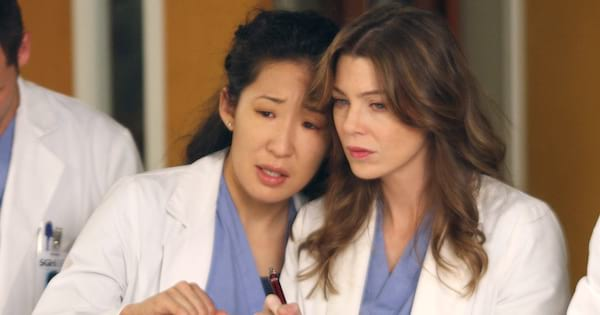 meredith grey and cristina yang on grey's anatomy