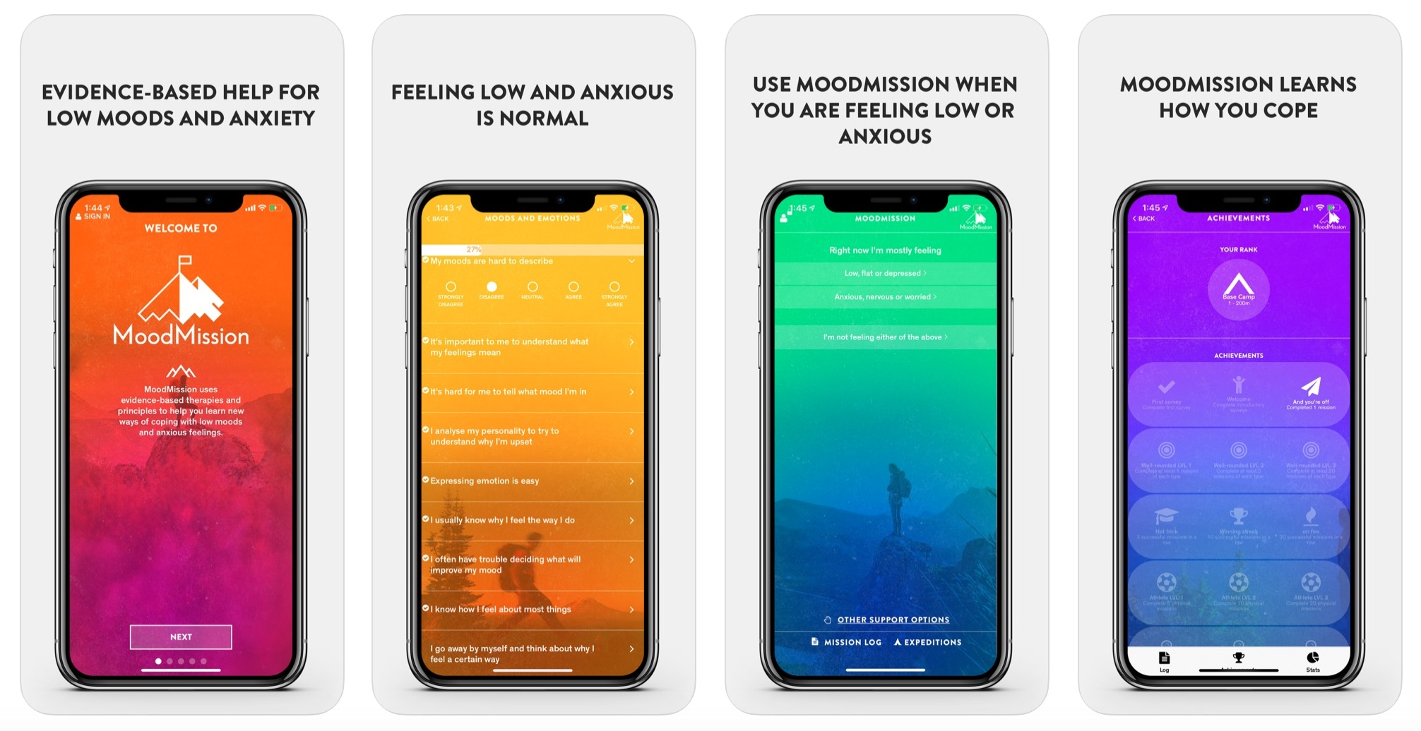 moodmission app for iphone and andriod to reduce stress and anxiety