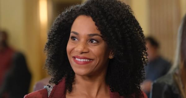 maggie pierce smiling on grey's anatomy