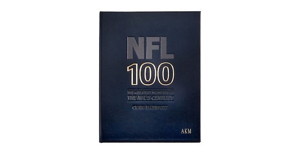 nfl 100 leather personalized book