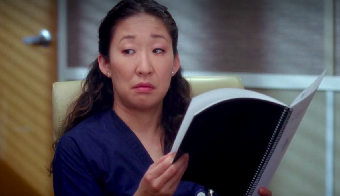 greys anatomy, Cristina Yang, doctor, reading