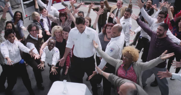 matthew proposing to april with a flash mob