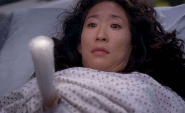 cristina with icicle wound