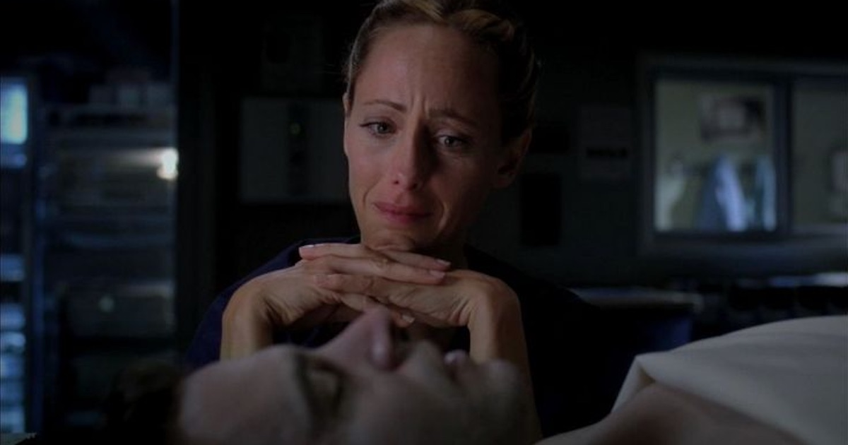 tessy altman crying over dead husband henry grey's anatomy