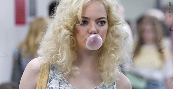 Acronyms, bubble gum, question, Emma Stone, geise hero