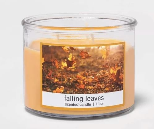 Falling Leaves Scented Candle