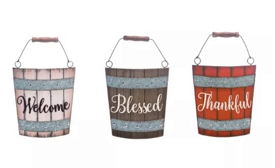 Wooden Harvest Fall Signs
