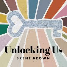 Picture of Unlocking Us by Brené Brown logo graphic