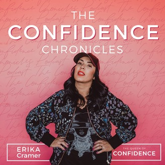 Logo for The Confidence Chronicles Podcast with Erika Cramer