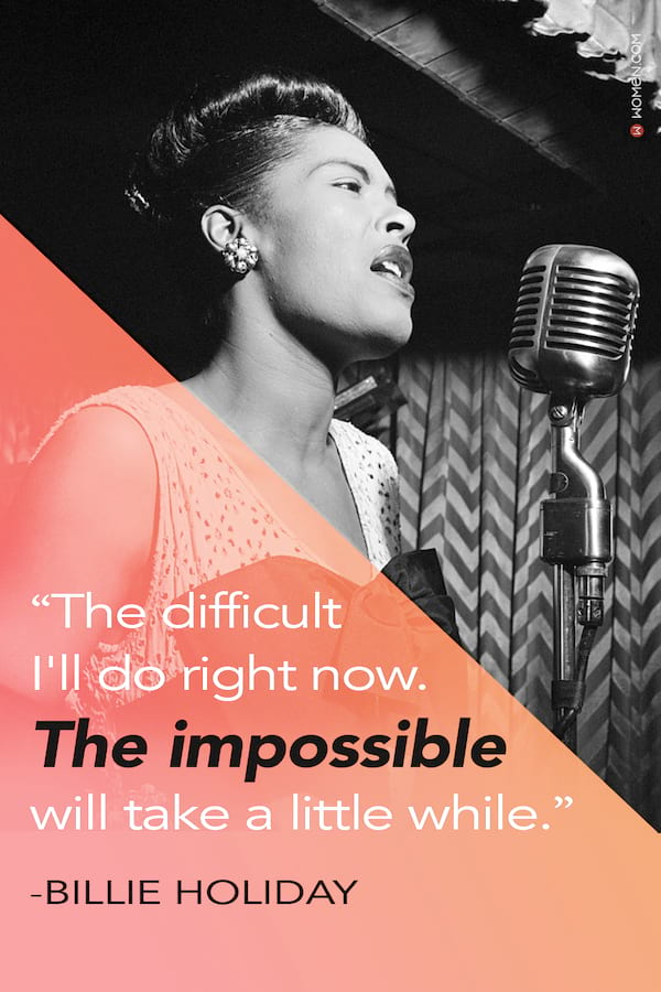 the impossible, quotes, billy holiday