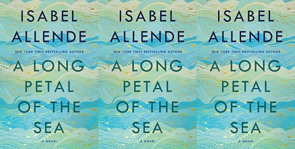 cover of a long petal of the sea by isabel allende, books