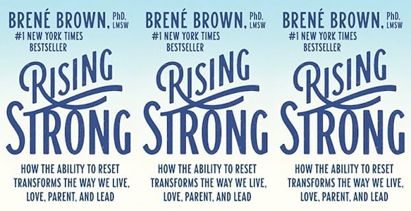 cover of rising strong by brene brown, books