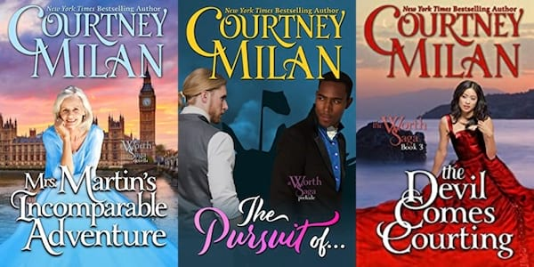 image of the worth saga by courtney milan, books