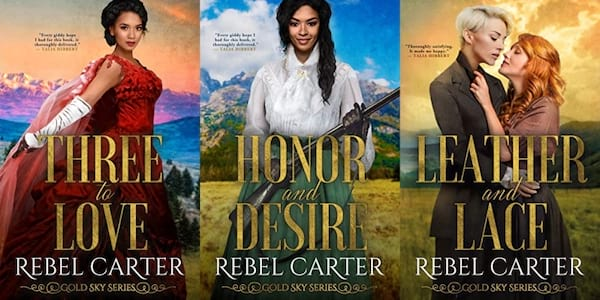 images of the gold sky series by rebel carter, books