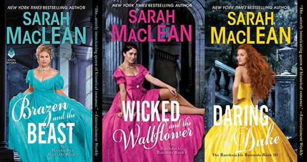 cover of the bareknucle bastards series by sarah maclean, books