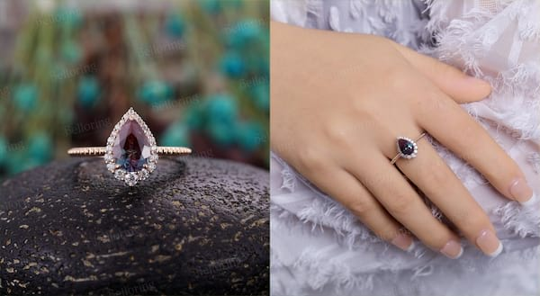 closeup of an engagement ring, relationships