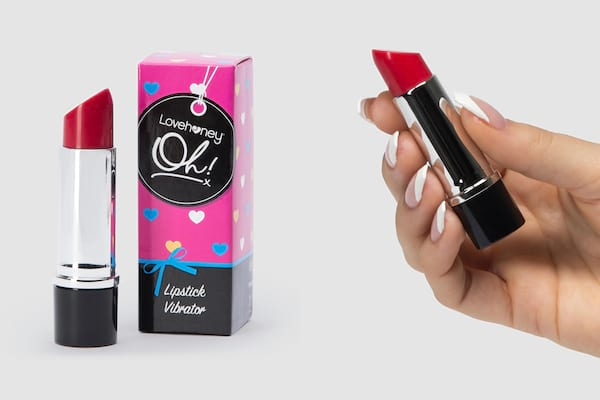 photo of a sex toy that resembles a tube of lipstick, sex