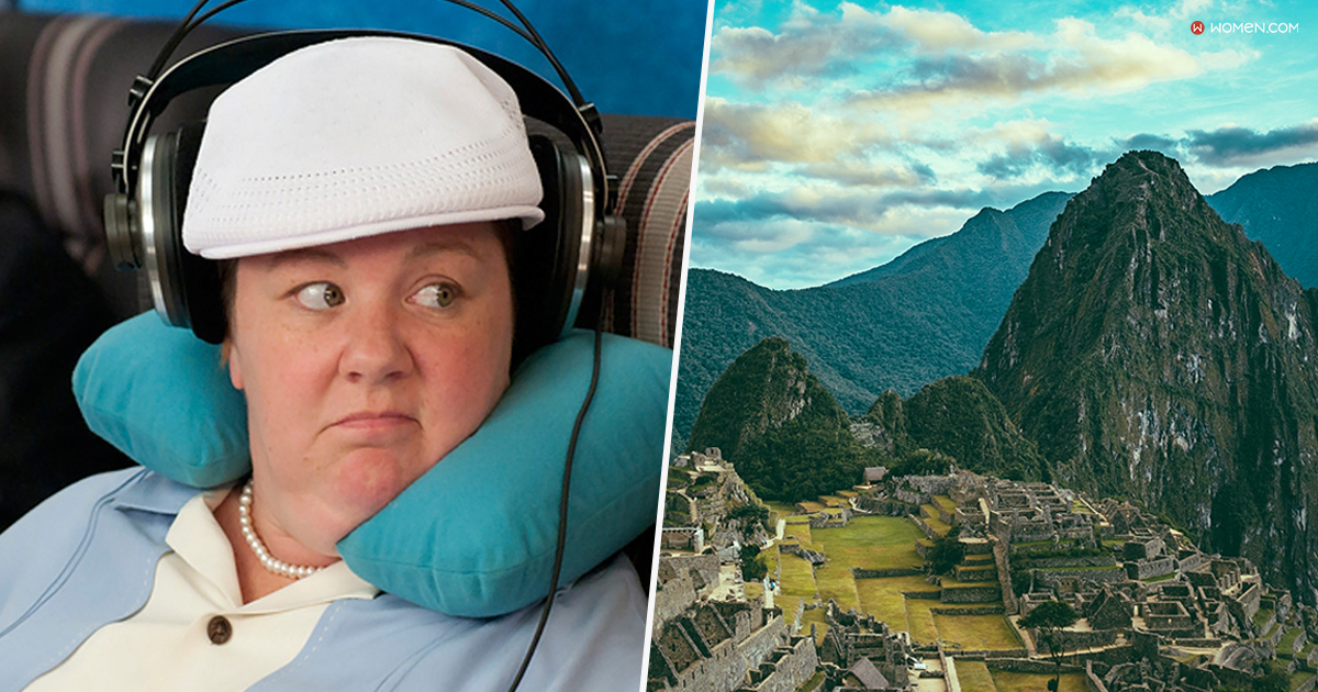 melissa mccarthy, bridesmaid, civilization, ancient, history, nature, traveling, trip, Peru, machu picchu