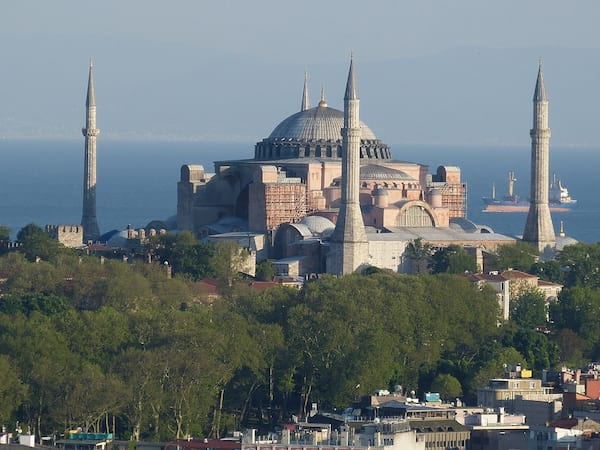 A large cathedral by the sea.