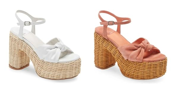 Jeffrey Campbell wedge sandal with wicker detailing