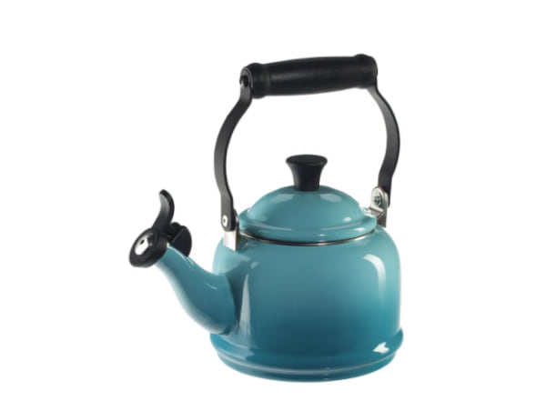 family, image of a blue tea kettle