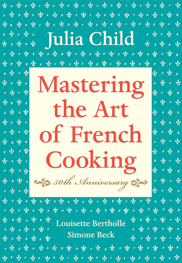 books, cover of mastering the art of french cooking by julia child